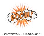 boom vector comic cloud. funny... | Shutterstock .eps vector #1105866044