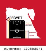 egypt at football world cups as ... | Shutterstock .eps vector #1105868141