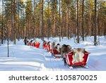 rovaniemi  finland   march 5 ... | Shutterstock . vector #1105870025