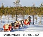 rovaniemi  finland   march 5 ... | Shutterstock . vector #1105870565