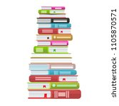 pile of books vector... | Shutterstock .eps vector #1105870571