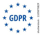 eu gdpr label illustration | Shutterstock .eps vector #1105870829