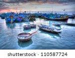 Fishing boats in marina at Phat Thiet, Mui Ne, Vietnam