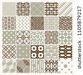 vector ornamental seamless... | Shutterstock .eps vector #1105879217