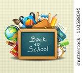 school illustration   Shutterstock .eps vector #110588045