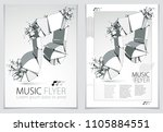 musical note exploding to... | Shutterstock .eps vector #1105884551