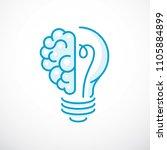 creative brain concept ... | Shutterstock .eps vector #1105884899
