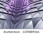 monochrome abstract 3d... | Shutterstock . vector #1105889261