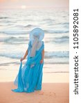 anonymous slim girl in romantic ...   Shutterstock . vector #1105892081