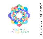 colorful flower logo  symbol ... | Shutterstock .eps vector #1105894229