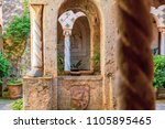 ravello  cloister and statues | Shutterstock . vector #1105895465