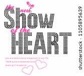 stylish trendy slogan tee t... | Shutterstock .eps vector #1105895639