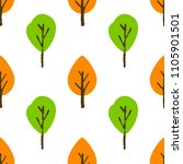 seamless tree pattern. colorful ... | Shutterstock .eps vector #1105901501