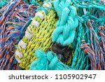 colorful fishing nets at the... | Shutterstock . vector #1105902947
