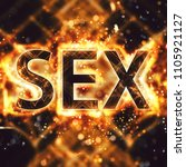 word sex with bokeh effect | Shutterstock . vector #1105921127