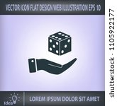 cubes for the game vector icon. | Shutterstock .eps vector #1105922177