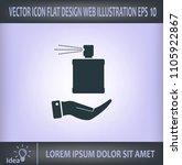 perfume  eau de toilette ... | Shutterstock .eps vector #1105922867