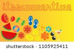 tropical poster summer time.... | Shutterstock .eps vector #1105925411