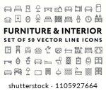 furniture interior minimal... | Shutterstock .eps vector #1105927664