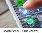 berlin  germany   june 6  2018  ... | Shutterstock . vector #1105928591