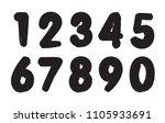 set of grunge numbers.vector...   Shutterstock .eps vector #1105933691
