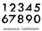 set of grunge numbers.vector... | Shutterstock .eps vector #1105933694
