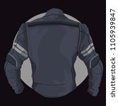 leather motorcycle jacket in...   Shutterstock .eps vector #1105939847