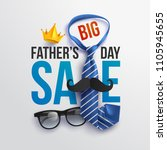 father's day sale promotion... | Shutterstock .eps vector #1105945655