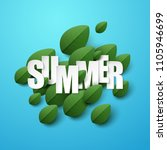 summer background with green... | Shutterstock .eps vector #1105946699