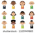 vector illustration of set of... | Shutterstock .eps vector #1105949885