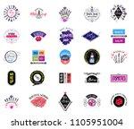 cosmetics logo set  handwritten ... | Shutterstock .eps vector #1105951004