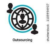 outsourcing icon vector... | Shutterstock .eps vector #1105954937