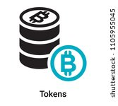 tokens icon vector isolated on... | Shutterstock .eps vector #1105955045