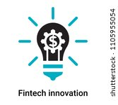 fintech innovation icon vector... | Shutterstock .eps vector #1105955054