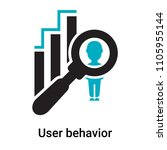 user behavior icon vector... | Shutterstock .eps vector #1105955144