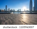 panoramic city skyline  with...   Shutterstock . vector #1105963007