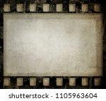 grunge film background. nice... | Shutterstock . vector #1105963604