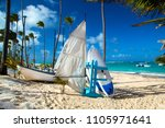 dominican republic  punta cana  ... | Shutterstock . vector #1105971641
