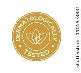 dermatologically tested icon | Shutterstock .eps vector #1105973831