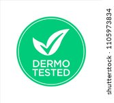 dermatologically tested icon | Shutterstock .eps vector #1105973834