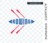 rowing vector icon isolated on... | Shutterstock .eps vector #1105974179