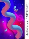 light blue  red vertical... | Shutterstock . vector #1105978481