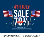4th of july usa independence... | Shutterstock .eps vector #1105980314