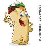 Burrito Cartoon Character