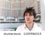 horizontal urban man portrait. | Shutterstock . vector #1105986515