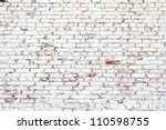 old brick wall with white and... | Shutterstock . vector #110598755