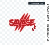 savage vector icon isolated on... | Shutterstock .eps vector #1105989035