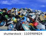 pile of used electronic and... | Shutterstock . vector #1105989824