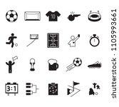 soccer or football icon set.... | Shutterstock .eps vector #1105993661