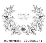 sketch floral botany collection.... | Shutterstock .eps vector #1106001341